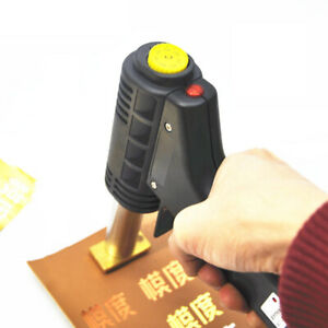 Portable Hot Foil Stamp Machine Press Gun Heated Branding Embossing For Leather