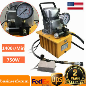 2 Stage Electric Driven Hydraulic Pump Pedal Solenoid Valve Control 10000psi Us
