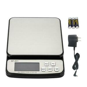 110lb X 0 1oz Digtal Shipping Scale Tabletop Postal Parcel Scale With Ac Adapter