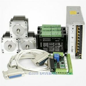 Cnc Kit 3axis Nema23 Stepper Motor M335 Stepper Driver For Mill router engraving