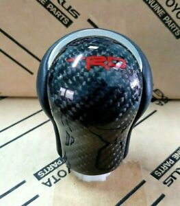 Carbon Krvla Trd Manual Gear Shift Knob Mt For Toyota Hilux Revo Rocco 2015 2018