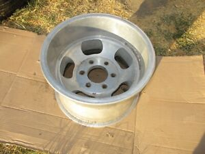 Single 15x10 Us Indy Slot Mag Wheel Rim Chevy Truck 6x5 5 Vintage 6 Lug