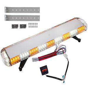 42 88 Led Light Bar Roof Warning Traffic Roof Strobe Hazard Flash Yellow Amber