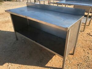 Heavy Duty 60 X 24 Commercial Stainless Steel Prep Work Cabinet Table Storage