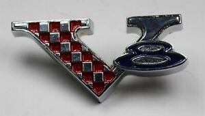 New 1964 65 Barracuda 1965 Belvedere fury V8 Emblem