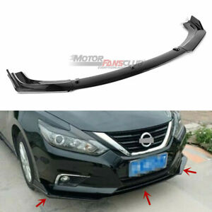 For 2016 2018 Nissan Altima Sedan Carbon Fiber Front Lip Bumper Splitter Cover