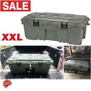 Truck Bed Storage Box Pickup Tool Trunks Organizer System Extra Large On Wheels