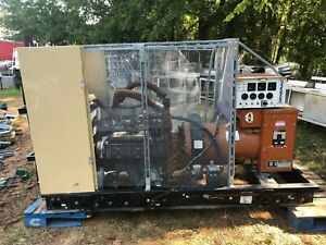 Generac 65 Kw Natural Gas 99a07719 s Commercial Generator W cage 521 Hours