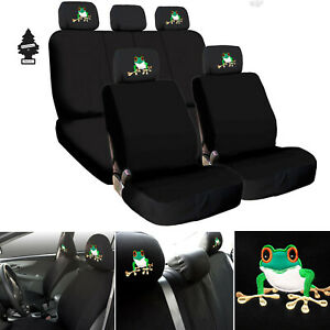 For Ford Black Fabric Car Truck Suv Seat Covers Full Set Frog Design