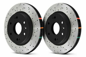 Dba 4000 Series Drilled Slotted Front Rotors Black Hats For 370z Sport