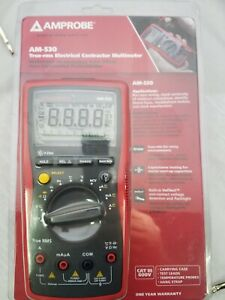 Amprobe Am 530 True rms Electrical Contractor Multimeter 750v 10a Ac dc