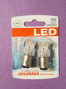 New 1157 Led Bulb Sylvania White 6000k Turn Signal Free Shipn 2357 2057