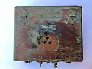 Wood Coil Box Antique Car Dash Ignition Switch Spark Auto T Ford Brass Buick Reo