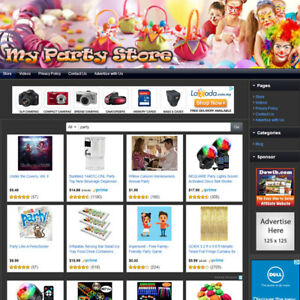 Party Supply Store Online Affiliate Business Website For Sale Free Domain Name