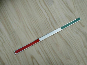 Ferrari Chrome And Enamel Tricolore Flag Badge