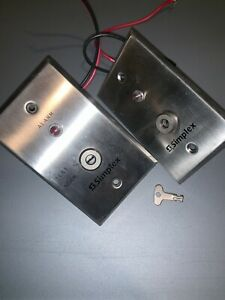 2 Simplex 2098 9806 Remote Test indicator Switches And Key