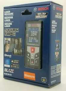 Bosch Glm 50cx Bluetooth Enabled Laser Distance Measure With Color Light Display
