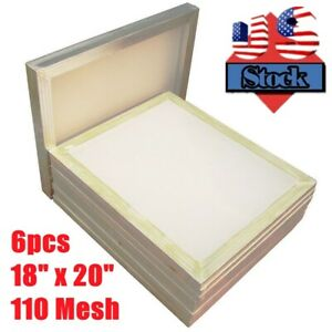 Usa 6pack 18 X 20 Aluminum Silk Screen Printing Frame 110 Mesh