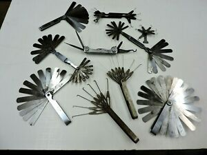 9 Vintage Feeler Gages Plus Kd No 137 Multi Tool
