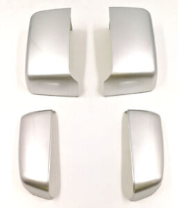 For 14 19 Gm Silverado Painted Silver 636r Tow Mirror Caps Cover Oe Replacement