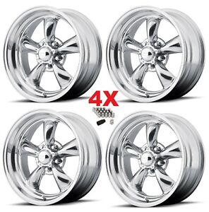 16 Staggered American Racing Wheels Rims Torq Thrust Ii 5x4 75 5x120 16x7 16x8