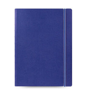 1 Blue Filofax A4 Size Refillable Leather look Ruled Notebook Diary Gift Fashion