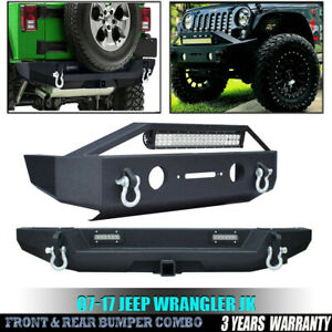 For 2007 2018 Jeep Wrangler Jk New Full Front Bumper Rear Bumper Kits