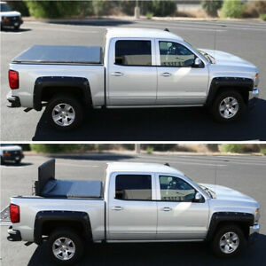 Fits 2017 2019 Nissan Frontier Pickup 5ft Short Bed Trunk Tri fold Tonneau Cover