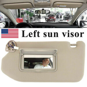 Left Tan Sun Visor With Light For 2013 2018 Pathfinder 2014 2017 Infiniti Qx60