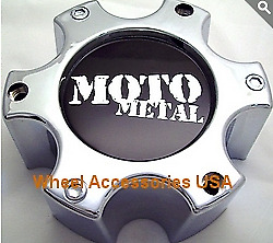 Moto Metal 961 Chrome Center Cap 306b1396h New Wheel Middle With Bolts 1