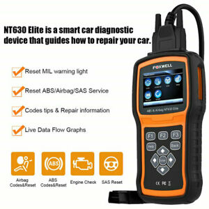 Foxwell Nt630 Plus Abs Airbag Reset Sas Tool Code Reader Diagnostic Scanner