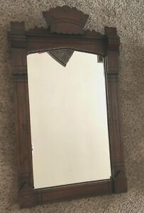 Vintage Mahogany Framed Mirror 27 Tall And 17 Wide 1940 S Great Old Piece