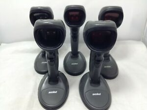 Lot Of 4 Symbol Barcode Scanner Ds9808 lr20167crwr Tested Working No Accessories