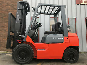 2001 Toyota 7fgu25 5000lb Pneumatic Forklift Lifttruck Hilo Lease For 284