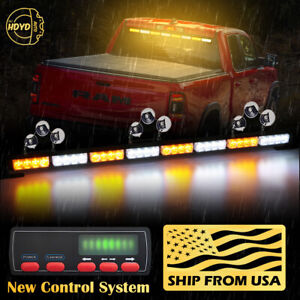 35 32 Led Amber White Emergency Warning Traffic Advisor Arrow Strobe Light Bar
