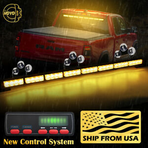 35 32 Led Amber Yellow Emergency Warning Traffic Advisor Arrow Strobe Light Bar