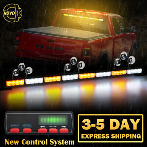 35 32 Led Emergency Warning Traffic Advisor Arrow Strobe Light Bar Amber White