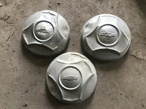 1964 1965 1966 Chevy Pickup Truck Hubcaps Oem 64 65 66 Lot Set Of 3