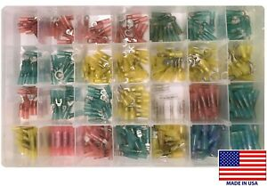 345 Heat Shrink Crimp Wire Terminal Connector Shop Assortment Kit Usa Made