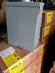 New Sqd Homeline 100 amp 6space 12c Outdoor Panel Load center Hom612l100rbcp