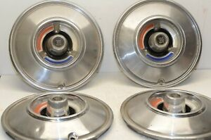 1966 Chrysler 300 14 Oem Original Mopar Hub Caps Wheel Covers Matched Set Of 4