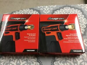 Snap On Tools Butane Gas Torch Set Torch3000 Torch4000 Orange New Snap On
