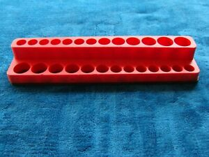 Mac Time Saver Socket Tray 5080230 26 Hole Red W Magnetic Base Magnet