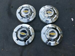 1969 1974 Chevy 3 4 Ton Pickup Truck Dog Dish Hubcaps C10 C20 C30 Oem Factory