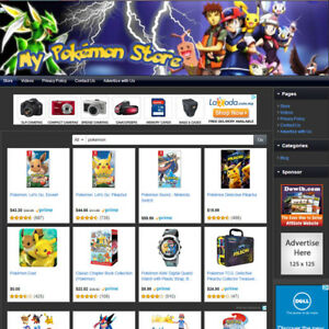 Pokemon Toys Store Affiliate Website Business For Sale Toy Plushy Game Etc