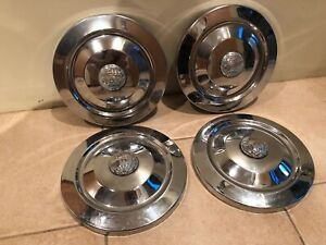 4 Vintage Original Oem Triumph Tr3a Hubcaps Set W World Globe Center Cap