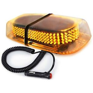 Amber 240 Led Car Emergency Hazard Strobe Flash Warning Roof Top Light On Off