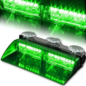 Green 16 Led Car Emergency Hazard Strobe Flash Warning Interior Light On Off