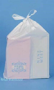 Plastic Bags Draw Tape Shoe White 250 Drawtape Merchandise 16 X 18 X 3 Retail