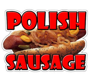 Polish Sausage Concession Decal Food Sign Cart Trailer Stand Sticker